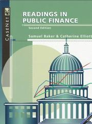 Cover of: Readings in Public Finance | Samuel H. Baker