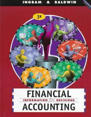 Cover of: Financial accounting | Robert W. Ingram