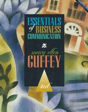 Essentials of business communication by Mary Ellen Guffey