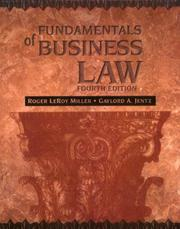 Fundamentals of business law by Roger LeRoy Miller