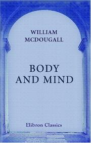 Cover of: Body and mind