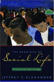 Cover of: The Meanings of Social Life: A Cultural Sociology