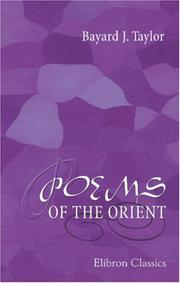 Cover of: Poems of the Orient | Bayard Taylor