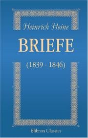 Cover of: Briefe (1839 - 1846)