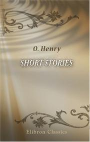 Cover of: Short Stories