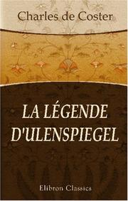 Cover of: La légende d'Ulenspiegel
