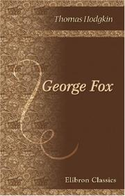 Cover of: George Fox