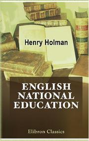 Cover of: English national education