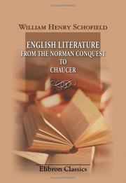 Cover of: English literature from the Norman Conquest to Chaucer