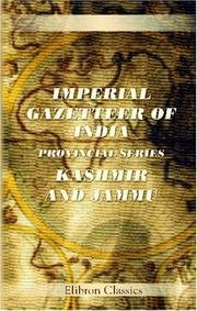 Cover of: Imperial gazetteer of India: Kashmir and Jammu