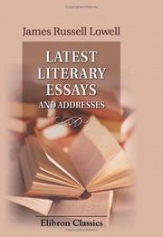 Cover of: Latest literary essays and addresses