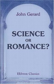 Cover of: Science or Romance? | John Gerard