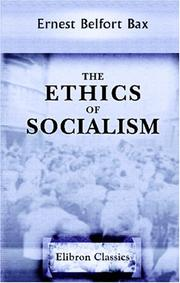 Cover of: The ethics of socialism
