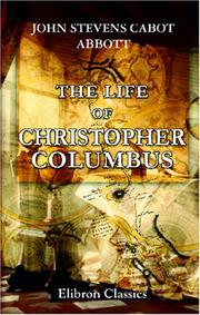 Cover of: The Life of Christopher Columbus