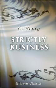 Cover of: Strictly Business | O. Henry
