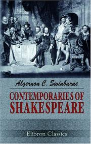 Cover of: Contemporaries of Shakespeare