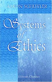 Cover of: Systems of Ethics
