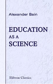 Cover of: Education as a science