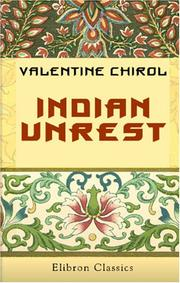 Cover of: Indian Unrest | Valentine Chirol