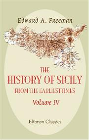 Cover of: The history of Sicily from the earliest times