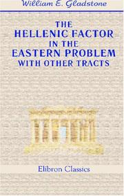 Cover of: The Hellenic Factor in the Eastern Problem