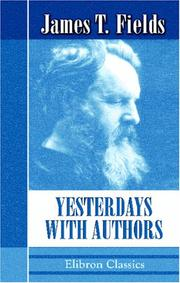 Cover of: Yesterdays with Authors