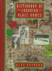 Cover of: Dictionary of Canadian place names