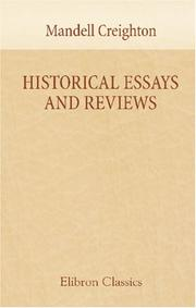 Cover of: Historical Essays and Reviews