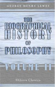 Cover of: A biographical history of philosophy