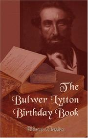 Cover of: The Bulwer Lytton Birthday Book