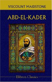 Cover of: Abd-el-Kader