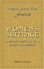 Cover of: Women's suffrage