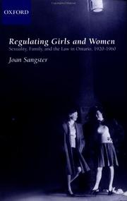 Cover of: Regulating girls and women | Joan Sangster