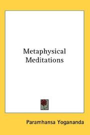 Cover of: Metaphysical Meditations
