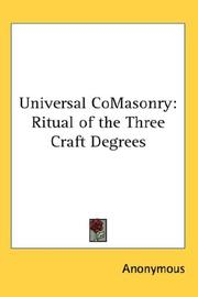 Cover of: Universal CoMasonry | Anonymous