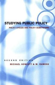 Cover of: Studying public policy