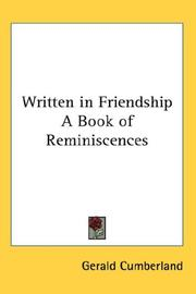 Cover of: Written in Friendship A Book of Reminiscences