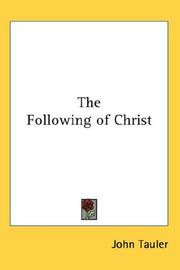 Cover of: Following of Christ