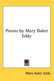 Cover of: Poems by Mary Baker Eddy: Low Voice, Book 2