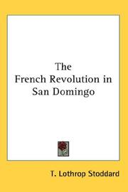 Cover of: The French Revolution in San Domingo