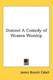 Cover of: Domnei A Comedy of Women Worship