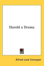 Cover of: Harold a Drama | Alfred, Lord Tennyson