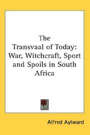 Cover of: The Transvaal Of Today