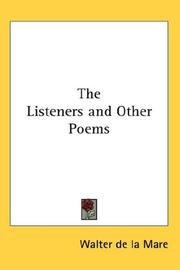 Cover of: The Listeners and Other Poems