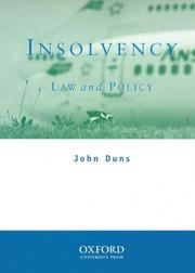 Cover of: Insolvency | John Duns