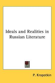 Cover of: Ideals and Realities in Russian Literature