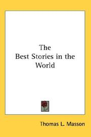 Cover of: The Best Stories in the World | Masson, Thomas Lansing