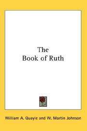 Cover of: The Book of Ruth |