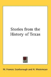 Cover of: Stories from the History of Texas