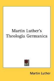 Cover of: Martin Luther's Theologia Germanica